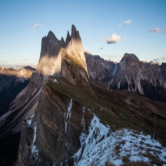 Time lapse of Dolomites mountain landscape at sunset. Stock Footage