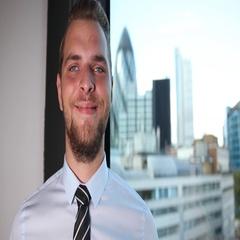 Optimistic Corporate Businessperson Looking Camera Posing Ok Sign London Skyline Stock Footage