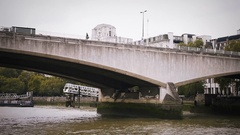 London view in a boat trip by Thames river, in London, England Stock Footage