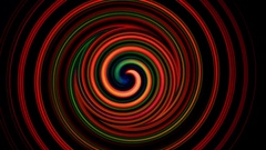 Vertigo hypnotic wheels motion background Stock Footage