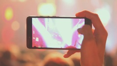 Footage of a crowd partying at a rock concert Stock Footage