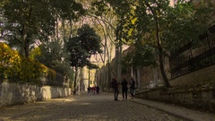 Alley leading to the Archaeological Museum Stock Footage