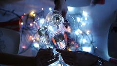 Celebration toasts with champagne. Stock Footage