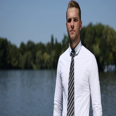 Young Businessperson Looking Camera Hand Gestures Thumb Up Sign Park Lake Nature Stock Footage