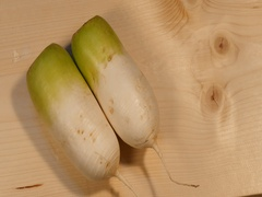 Focus on fresh radish Stock Footage