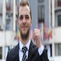 Happy Businessman Looking Camera Posing Smiling Thumb Up Sign International Flag Stock Footage
