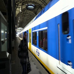 Delft Railway Station - the Netherlands in 4K Stock Footage