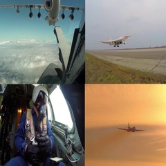 The aircraft of strategic aviation Stock Footage