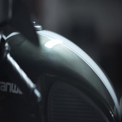 Classic Motorcycle Fuel tank Dashboard And Light Stock Footage