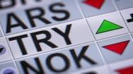 Turkish lira. Up. Looping. Stock Footage
