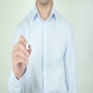 Career Advancement, Writing On Transparent Screen Stock Footage