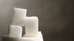 Sugar cubes. Cubes moves around. Stock Footage