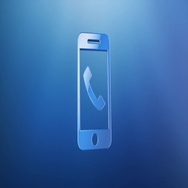 Mobile Call Blue 3d Icon Stock Footage