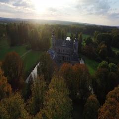Dreaming: Fairy tale castle in Denmark Stock Footage