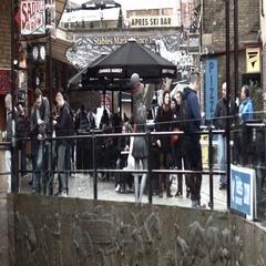 Tourist in Camden Market Stock Footage