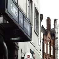 Camden Underground Station Sign Stock Footage