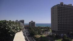 Tel Aviv Israel Ocean Stock Footage