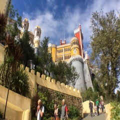 Access Ramp To Pena Palace, Portugal Famous Castle Stock Footage
