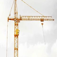 Construction crane close up Stock Footage