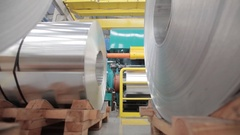 Industry alley coils Stock Footage