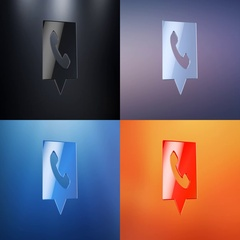 Phone Message 3d Icon Stock Footage