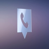 Phone Message Silver 3d Icon Stock Footage