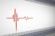 Left View - Close up - monitor - heartbeat line - red - SD Stock Footage