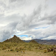 Cloudy sky over the Mongolian Altai, Mongolia. Full HD. Stock Footage