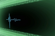 Right View - Dark Screen - monitor - heartbeat line - green - SD Stock Footage