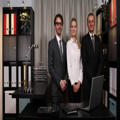 Corporate Business Persons Looking Camera Optimistic Teamwork Group Smart People Stock Footage
