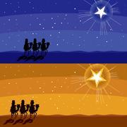 Following Shining Star Stock Illustration