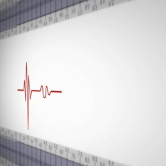 Right View - Close up - monitor - heartbeat line - red Stock Footage