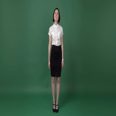 Young woman in business clothes and heeled shoes  dancing Stock Footage