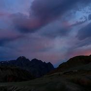Sunrise in the Altai Mountains, Kosh-Agachsky District, Altai Republic, Russia.  Stock Footage