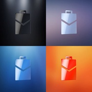 Briefcase 3d Icon Stock Footage