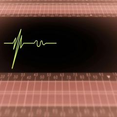 Bottom View - Dark Screen - monitor - heartbeat line - red Stock Footage