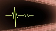 Left View - Dark Screen - monitor - heartbeat line - red Stock Footage