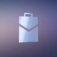 Briefcase Silver 3d Icon Stock Footage