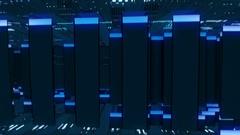 Bites Of Light Wall Vj Loop Stock Footage