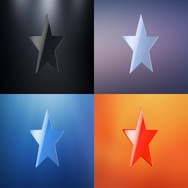 Star 3d Icon Stock Footage