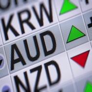 Australian dollar. Up. Looping. Stock Footage