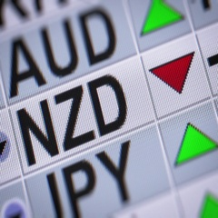 New Zealand dollar. Down. Looping. Stock Footage