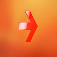 Arrow Right Red 3d Icon Stock Footage