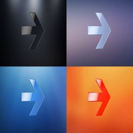 Arrow Right 3d Icon Stock Footage