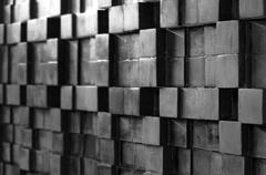 Blur abstract background from wood pattern BW Stock Photos