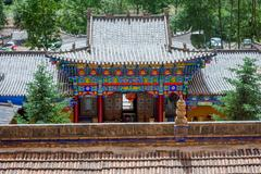 Roofs of Horse's Hoof temple, Mati si cave temple, Zhangye, Gansu province, Chin Stock Photos