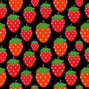 Simple Strawberry Seamless Pattern Background Vector Illustratio Stock Illustration