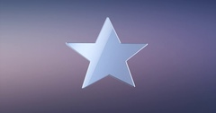 Star Silver 3d Icon Stock Footage