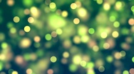 Abstract Loopable Background with nice green bokeh Stock Footage