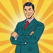 Successful retro businessman Piirros